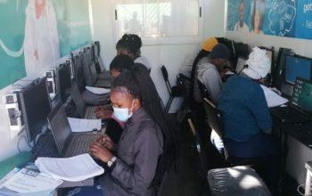 The Masiphakameni Youth Development Programme computer laboratory.